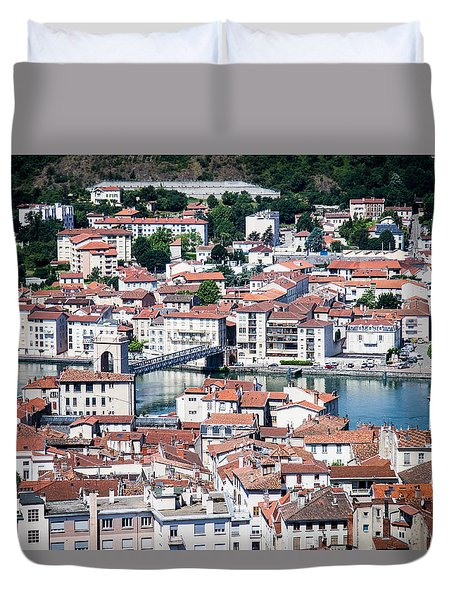 Duvet Cover featuring the photograph Split Down The Middle by Jason Smith