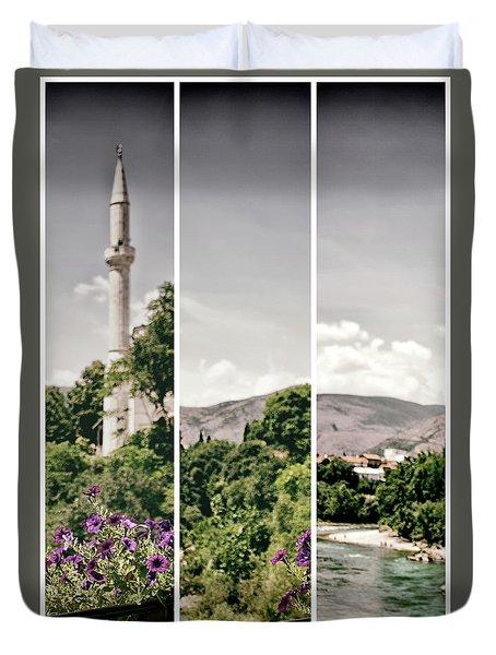 Split Landscape Duvet Cover