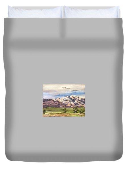 Split Mountain Duvet Cover