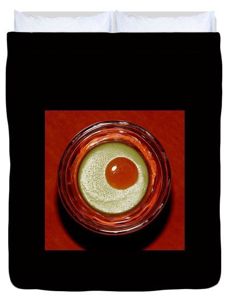 Split Pea Soup Duvet Cover