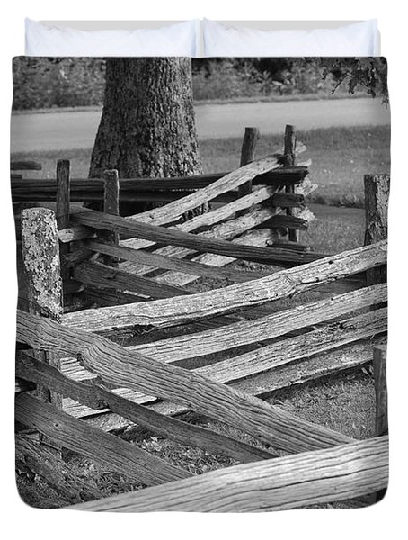 Duvet Cover featuring the photograph Split Rail Fence by Eric Liller