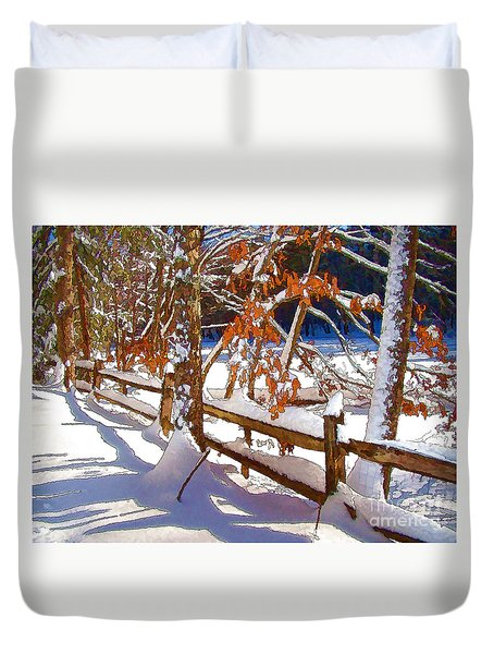 Split Rails Duvet Cover