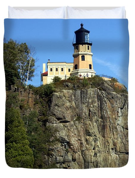 Split Rock 3 Duvet Cover by Marty Koch