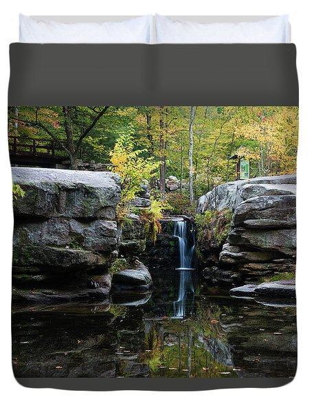 Split Rock In October #1 Duvet Cover by Jeff Severson