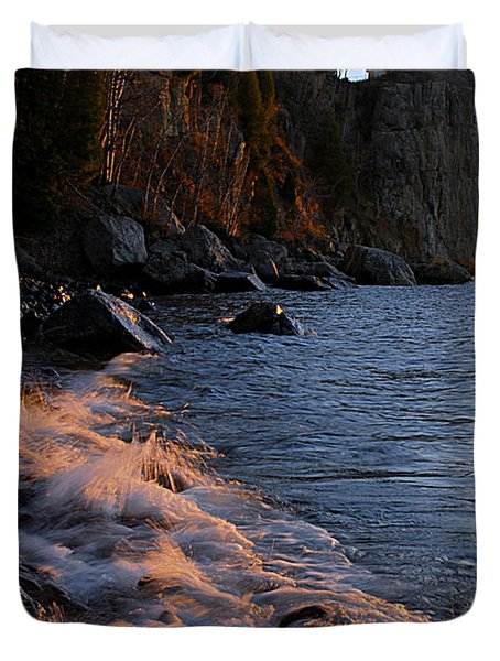 Split Rock Lighthouse At Dawn Duvet Cover