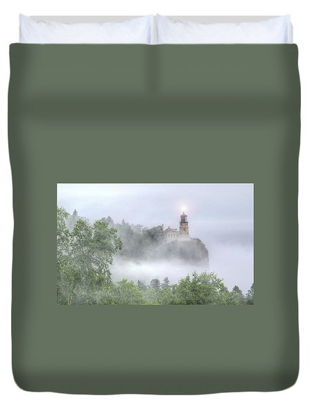 Split Rock Lighthouse Lake Superior North Shore Duvet Cover