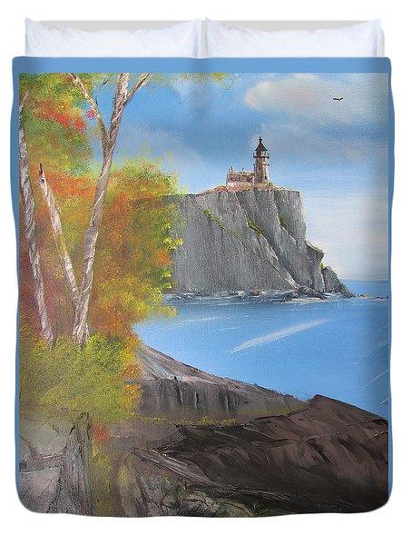 Split Rock Lighthouse Minnesota Duvet Cover