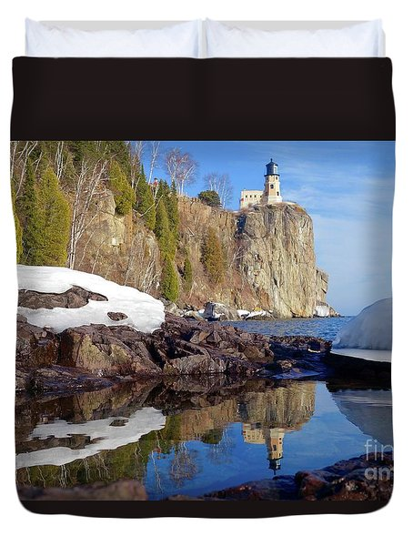 Split Rock Reflections Duvet Cover