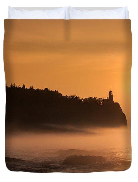 Split Rock's Morning Glow Duvet Cover