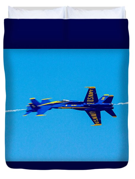 Split Second In Time Duvet Cover by Allan Levin