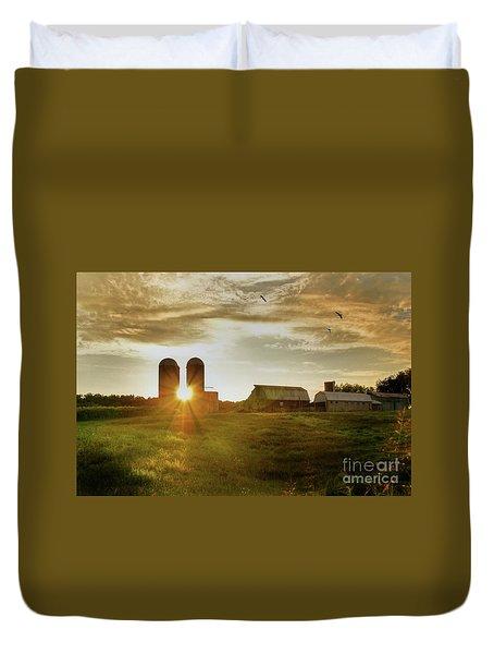 Split Silo Sunset Duvet Cover