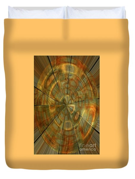 Duvet Cover featuring the photograph Split Spin by Nareeta Martin