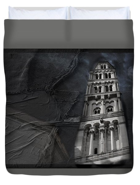 Duvet Cover featuring the photograph Split Story  by Danica Radman