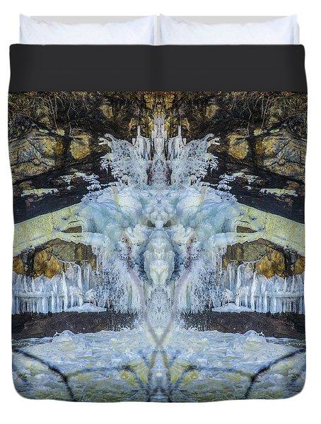 Split The Falls Duvet Cover