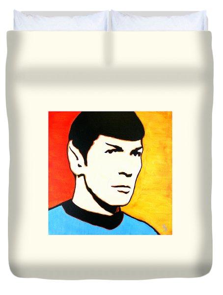 Spock Vulcan Star Trek Pop Art Duvet Cover by Bob Baker