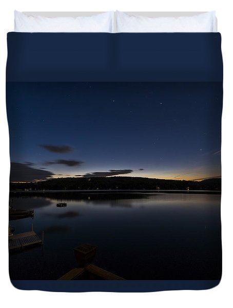Duvet Cover featuring the photograph Spofford Lake Dawn by Tom Singleton
