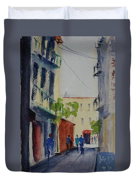 Spofford Street3 Duvet Cover by Tom Simmons
