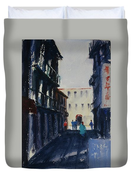 Spofford Street4 Duvet Cover by Tom Simmons