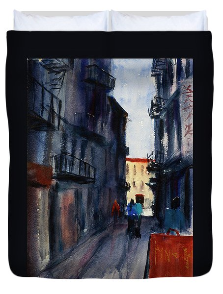 spofford Street5 Duvet Cover by Tom Simmons