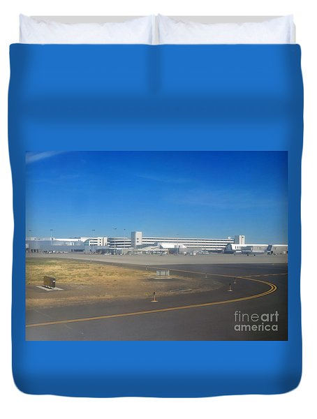 Spokane. Wa Airport  Day 11 Duvet Cover by Cindy Murphy - NightVisions