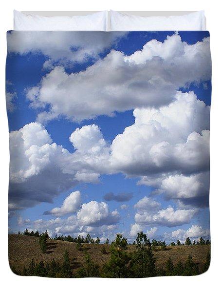 Spokane Cloudscape Duvet Cover
