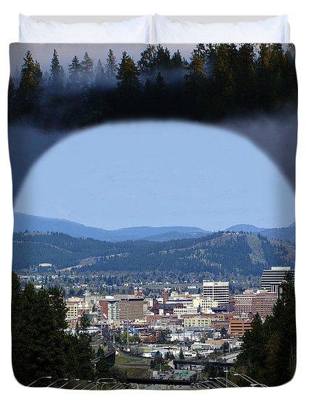 Spokane Near Perfect Nature Duvet Cover