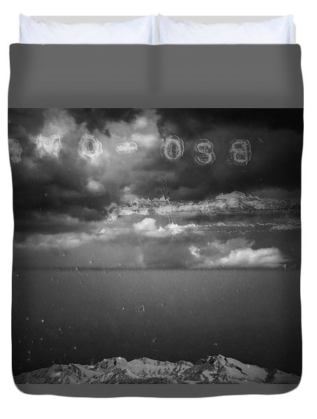 Duvet Cover featuring the photograph Spoken by Mark Ross