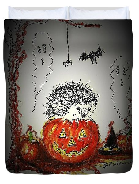 Spooky Hedgehog Halloween Duvet Cover