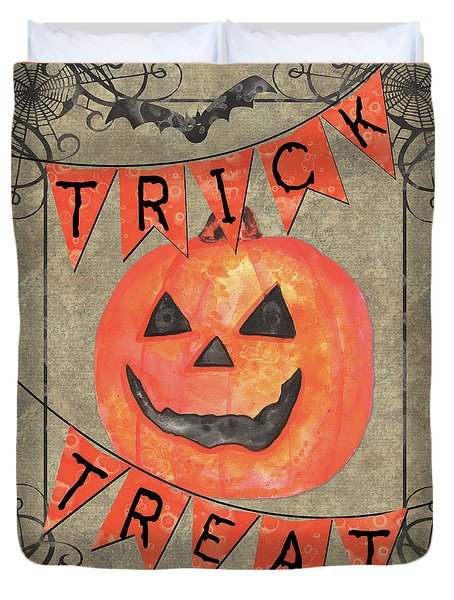 Spooky Pumpkin 1 Duvet Cover