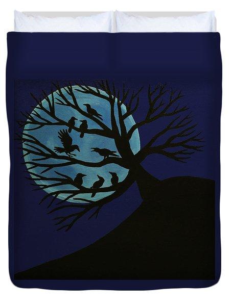 Spooky Raven Tree Duvet Cover