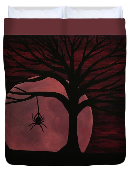 Spooky Spider Tree Duvet Cover