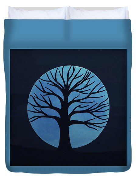 Spooky Tree Blue Duvet Cover
