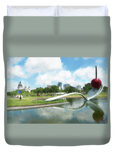 Spoon And Cherry Duvet Cover