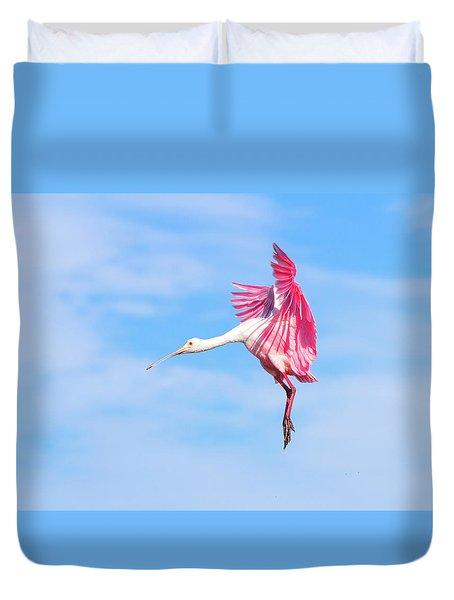 Spoonbill Ballet Duvet Cover