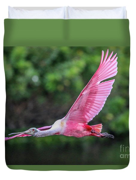Spoony In Flight Duvet Cover