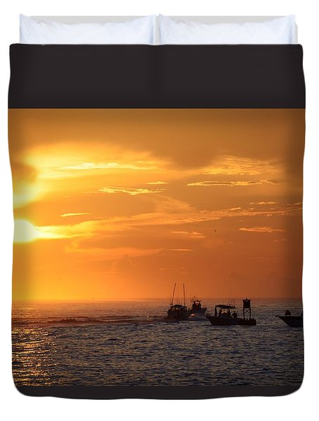 Sportfishermen Head Offshore Duvet Cover
