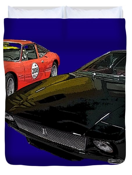 Sports Car In A Row Art Duvet Cover