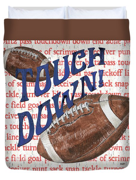 Sports Fan Football Duvet Cover