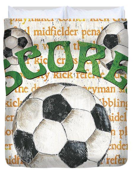 Sports Fan Soccer Duvet Cover