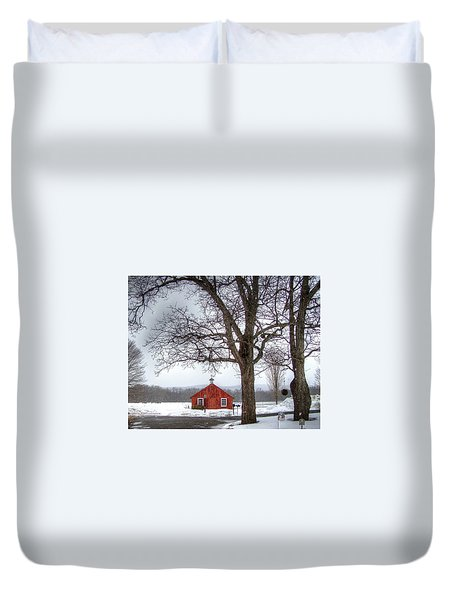 Spot Of Color Duvet Cover by Betsy Zimmerli