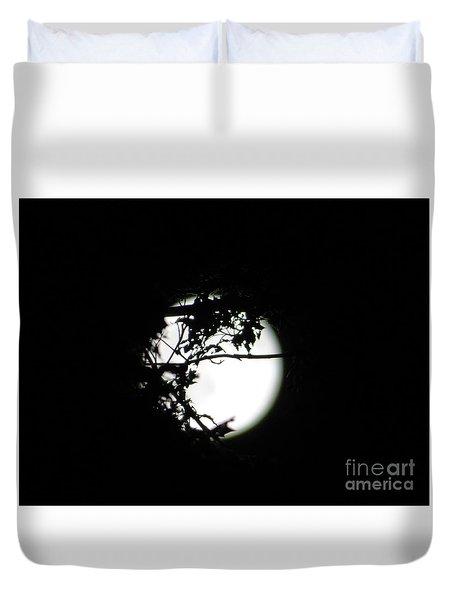 Spotlight Moon Duvet Cover