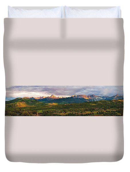 Spotlight On Mt. Sneffels Duvet Cover