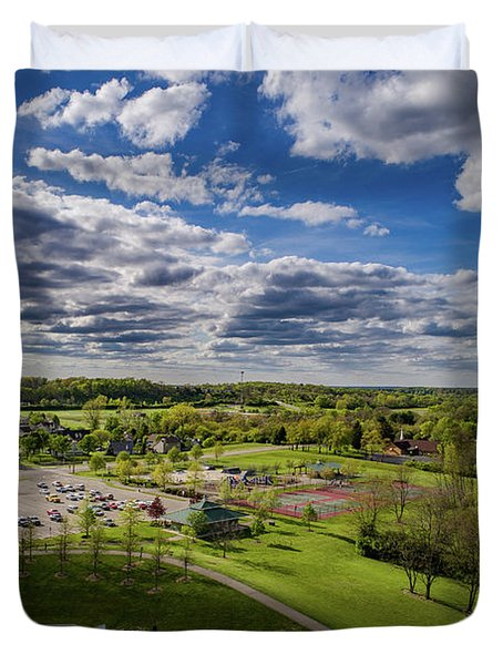 Spotlight On The Park Duvet Cover