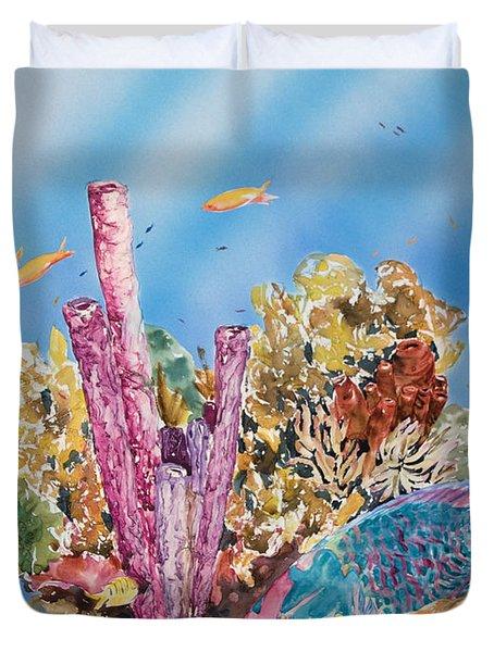 Spotlight Parrotfish Duvet Cover by Tanya L Haynes - Printscapes