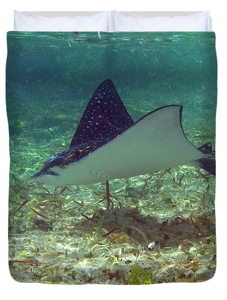 Spotted Eagle Ray Duvet Cover