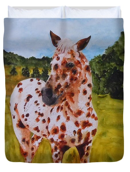 Spotted In Hawaii Duvet Cover by Jean Blackmer