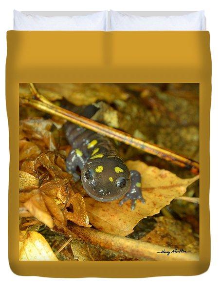 Spotted Salamander Duvet Cover