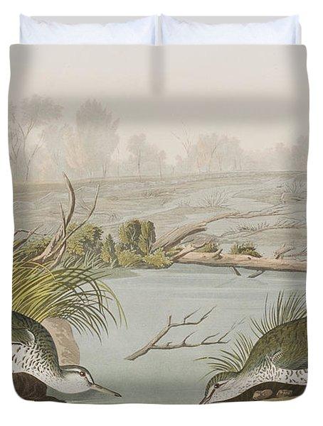Spotted Sandpiper Duvet Cover