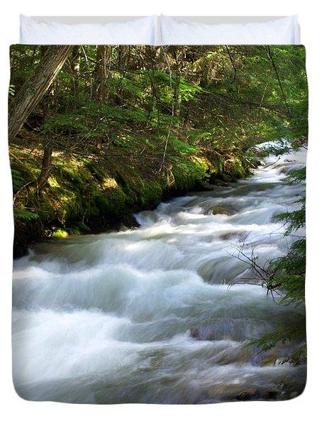 Sprague Creek Glacier National Park 2 Duvet Cover by Marty Koch