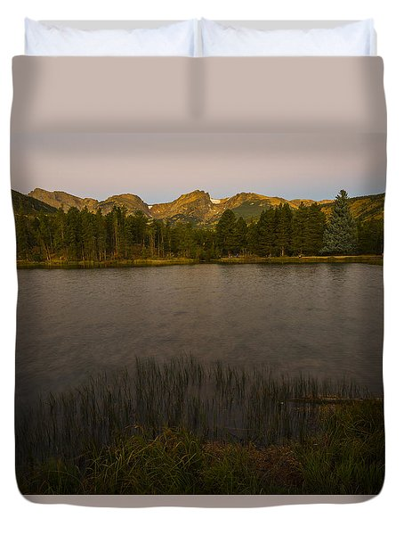 Sprague Lake Duvet Cover by Gary Lengyel